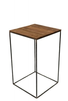 Barrel Wood Metal Stool
