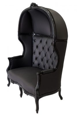 Black Porter Love Seat