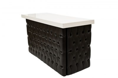 Black Tufted Bar - White Top