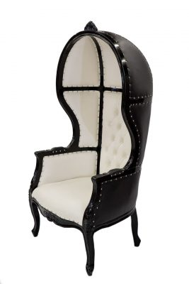 Black & White Porter Chair