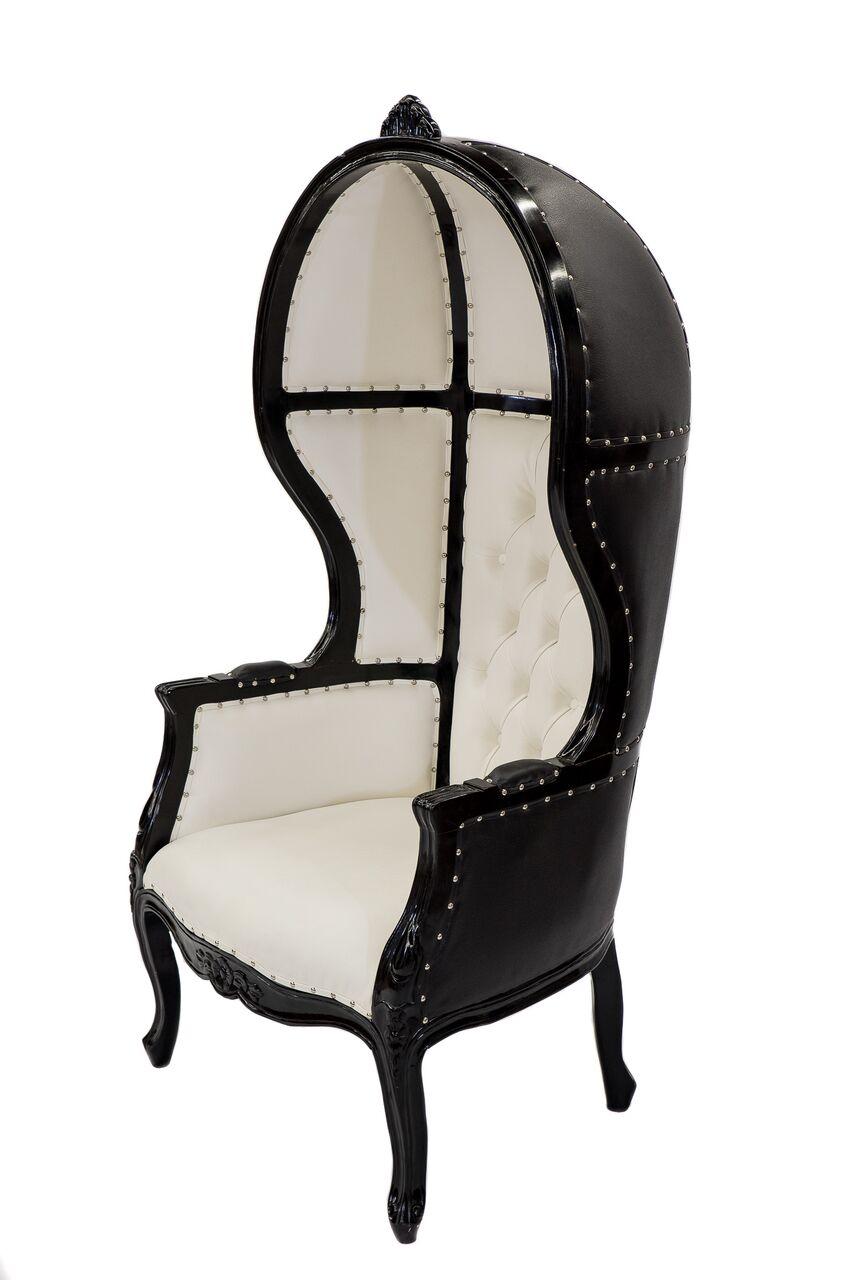 Black Amp White Porter Chair