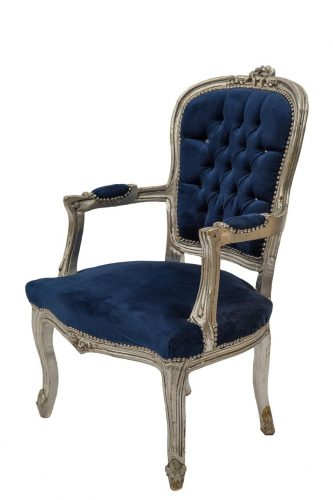 Blue & Silver Chair