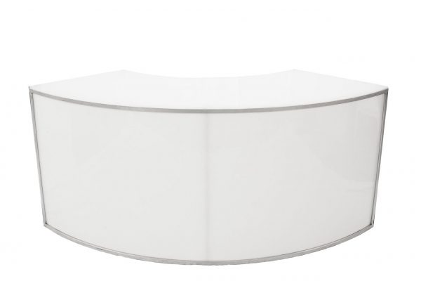 Curved Whit Bar (with or without LED Lighting)