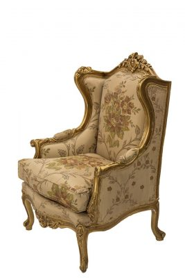 Floral Gold Chair