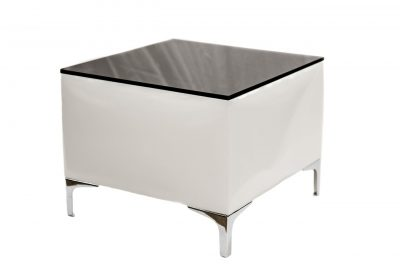 Ivory - Black Top - Low Cocktail Table