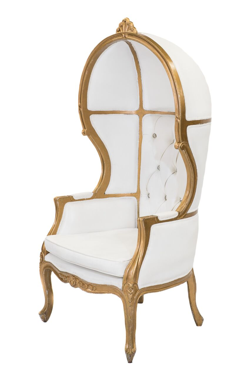 Ivory U0026 Gold Porter Chair