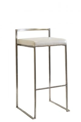Ivory & Silver Stool