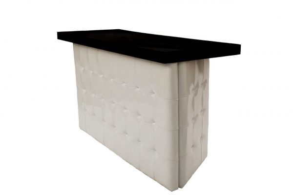 White Tufted Bar - Black Top