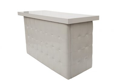 White Tufted Bar - White Top