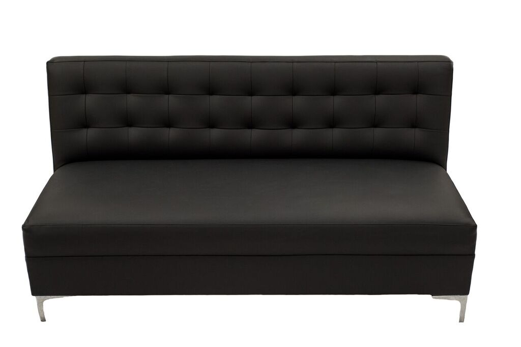 Black Armless Sofa
